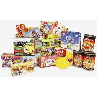 Food shopping basket toy set