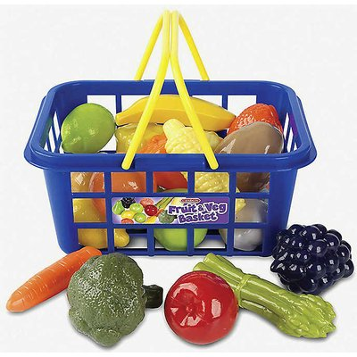 Fruit & Veg shopping basket toy set