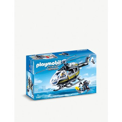 SWAT City Action helicopter playset