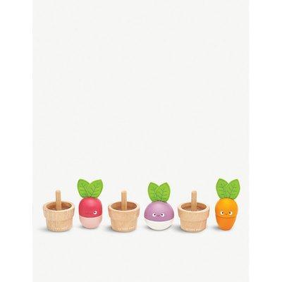 Petilou Stacking Veggies wooden block puzzle
