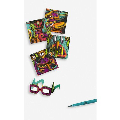 Funny Freaks 3D colouring book