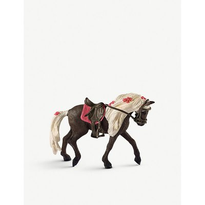 Stall with Arabian horses and groom playset
