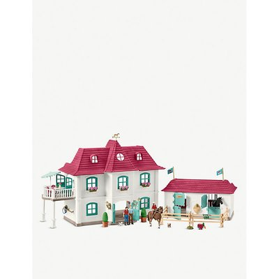 House, horses and stable playset