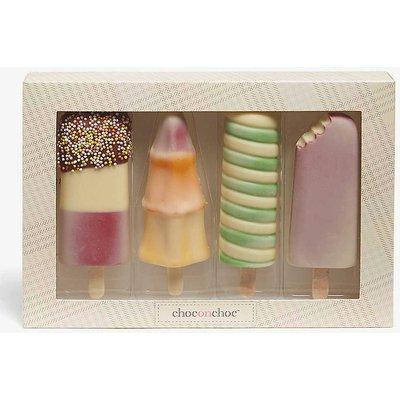 Chocolate ice lollies box of four 185g