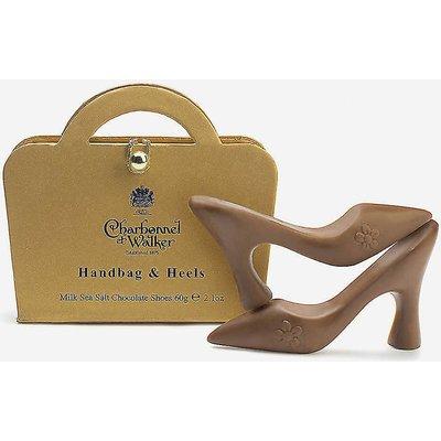 Sea salt milk chocolate handbag and heels 60g