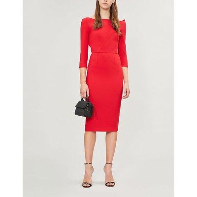Witham off-the-shoulder crepe dress