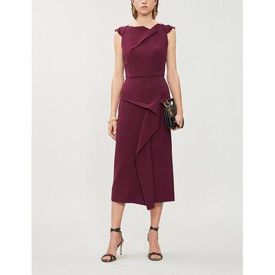 Steller draped crepe midi dress