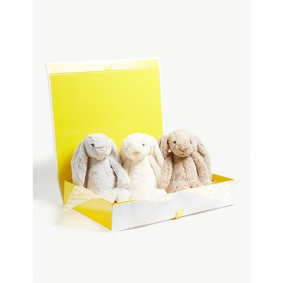 Bashful Bunny soft toy hamper set of three 31cm