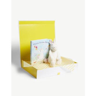 Bashful Unicorn soft toy and book hamper