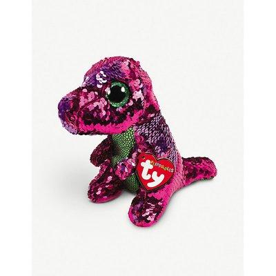 Stomp Dino sequin Flippable Boo medium soft toy