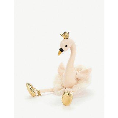Fancy Swan large soft toy 56cm