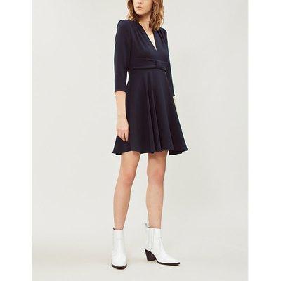 Raina V-neck crepe dress