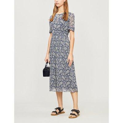 Rizalde paisley-print woven midi dress