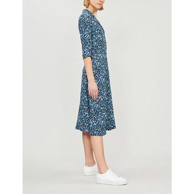 Response floral-print crepe shirt dress