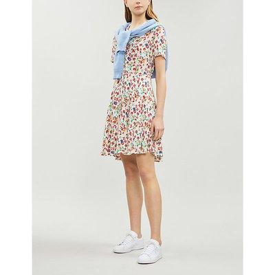Reed floral crepe shirt dress