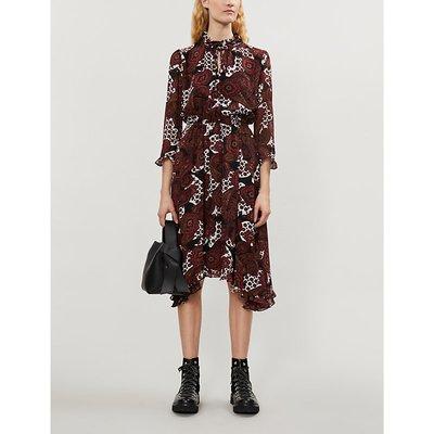 Rinald paisley-print chiffon midi dress