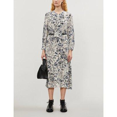 Romina floral-print satin midi dress