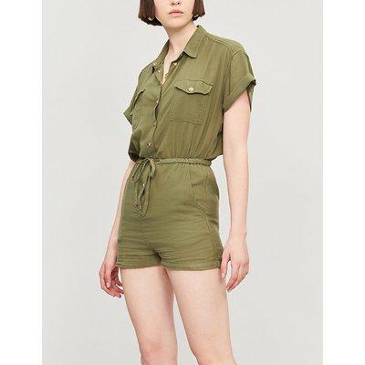 Patch-pocket cotton jumpsuit