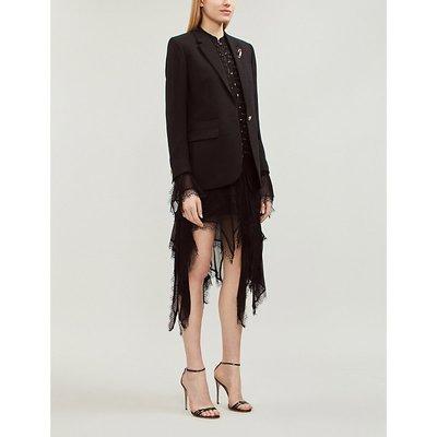Asymmetric woven midi dress