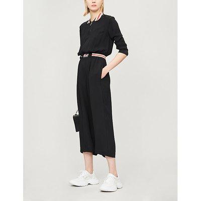 Moderno long-sleeved crepe jumpsuit