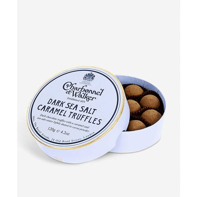 Dark chocolate sea salt caramel truffles 120g