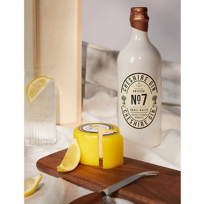 Gin and waxed cheese gift set