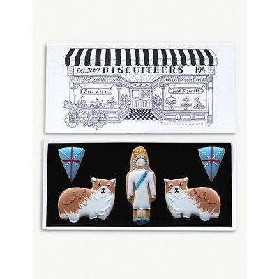 Queen and Corgis letterbox biscuits box of five