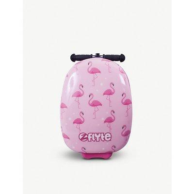 Flamingo scooter suitcase
