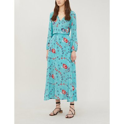 Rikko floral-print silk midi dress