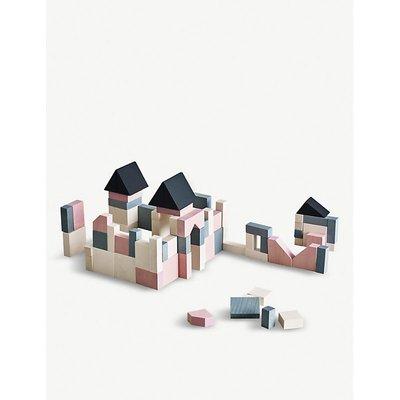 Castle wooden building block set