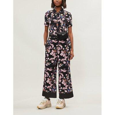 Floral print crepe jumpsuit