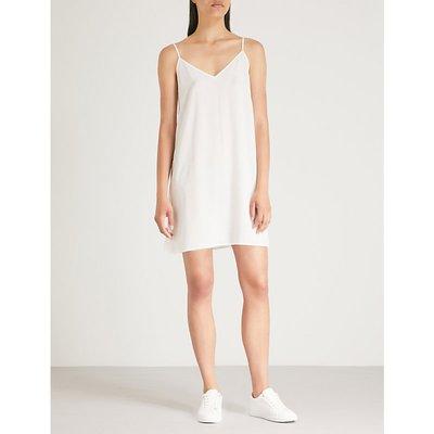 Sandro Ladies Ecru White Spaghetti-Straps Crepe Dress