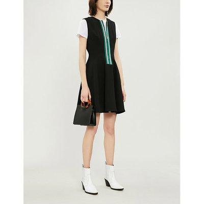 Sandro Ladies Black Ines Embellished Zip Dress