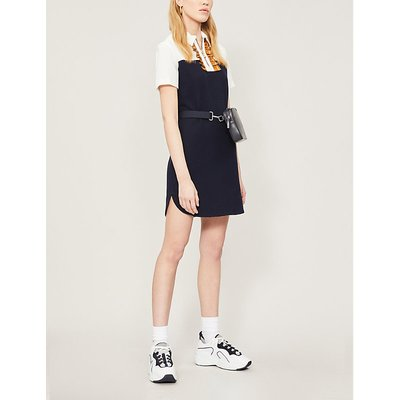Anne twill shift dress