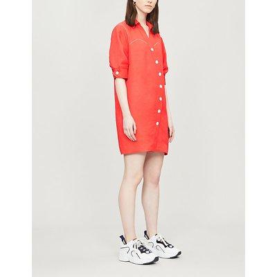 Kunga crepe-linen dress
