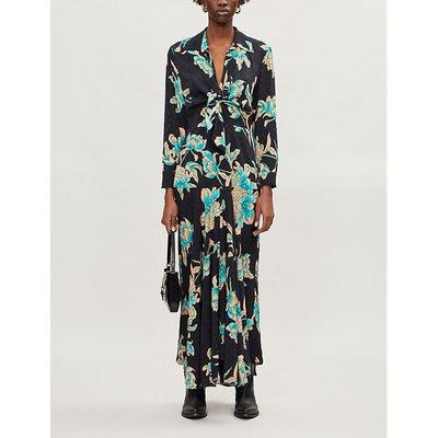 Blaire floral-print crepe maxi dress
