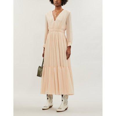 Chaireen V-neck crepe midi dress