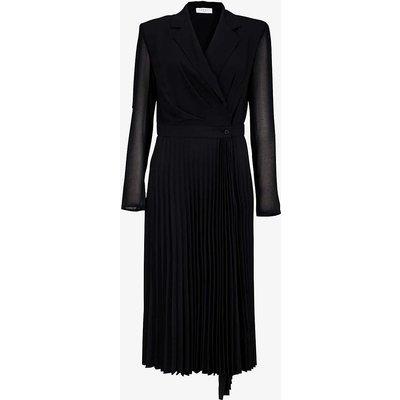 Blazer-style woven midi dress