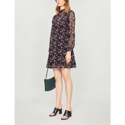 Nordic Puzzle high-neck crepe dress