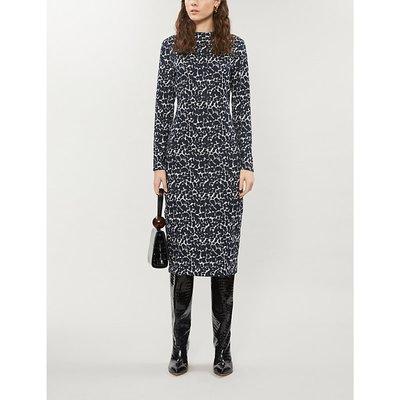 Liniee leopard-print bodcon crepe dress