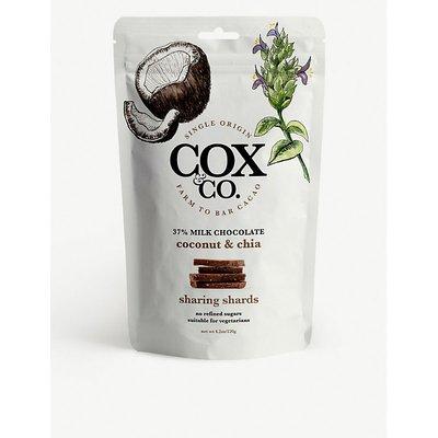 Milk chocolate, coconut and chia sharing shards 120g