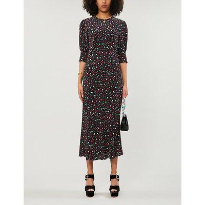 Jess floral-print woven midi dress