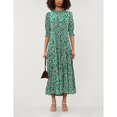 Kristen floral-print tiered cotton-blend maxi dress