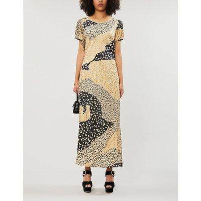 Reese leopard-print silk-satin midi dress