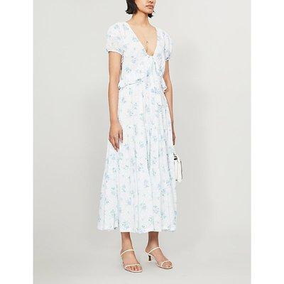 Carlton floral-print cotton midi dress