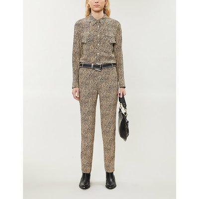 Clue leopard-print crepe jumpsuit