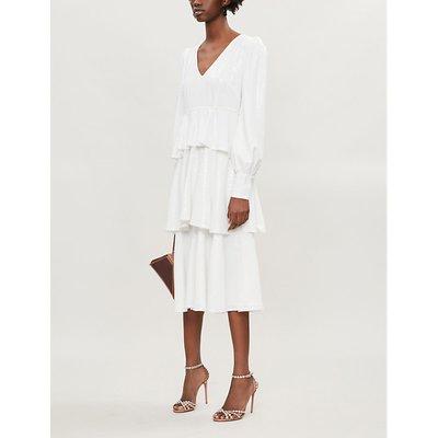 Sacha tiered sequinned midi dress