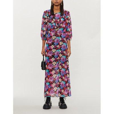 Ladies floral-print crepe midi dress
