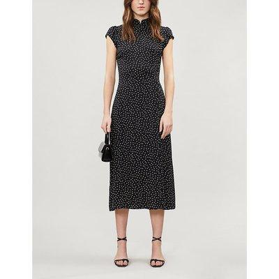 Patti polka dot-print crepe midi dress