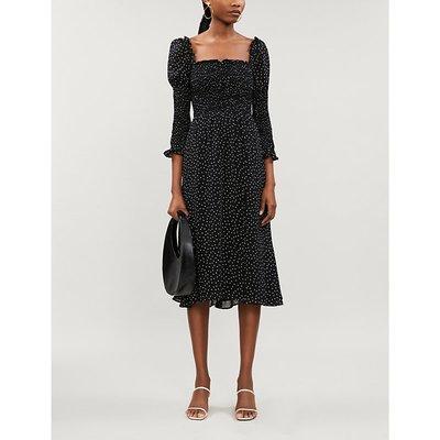 Rosamund polka-dot print crepe midi dress